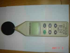 カスタム社製騒音計