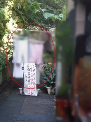 乙第31号証⑥南側私道上に干された洗濯物
