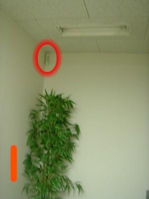 ゴキブリが貼り付いていたとされる空間センサー1